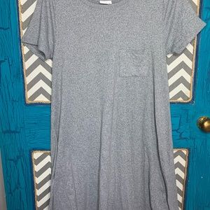 LuLaRoe XS Carly. Marbles gray and white